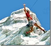 Keith Wing climbing the Matterhorn at Disneyland