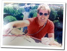 Keith Wing atop the Matterhorn at Disneyland