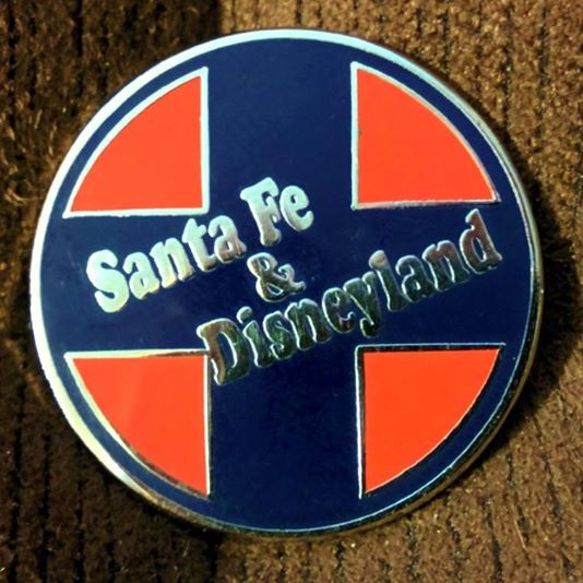 Santa Fe & Disneyland Railroad 1¼ inch pin