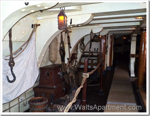 Below Decks of the Sailing Ship Columbia - WaltsApartment.com