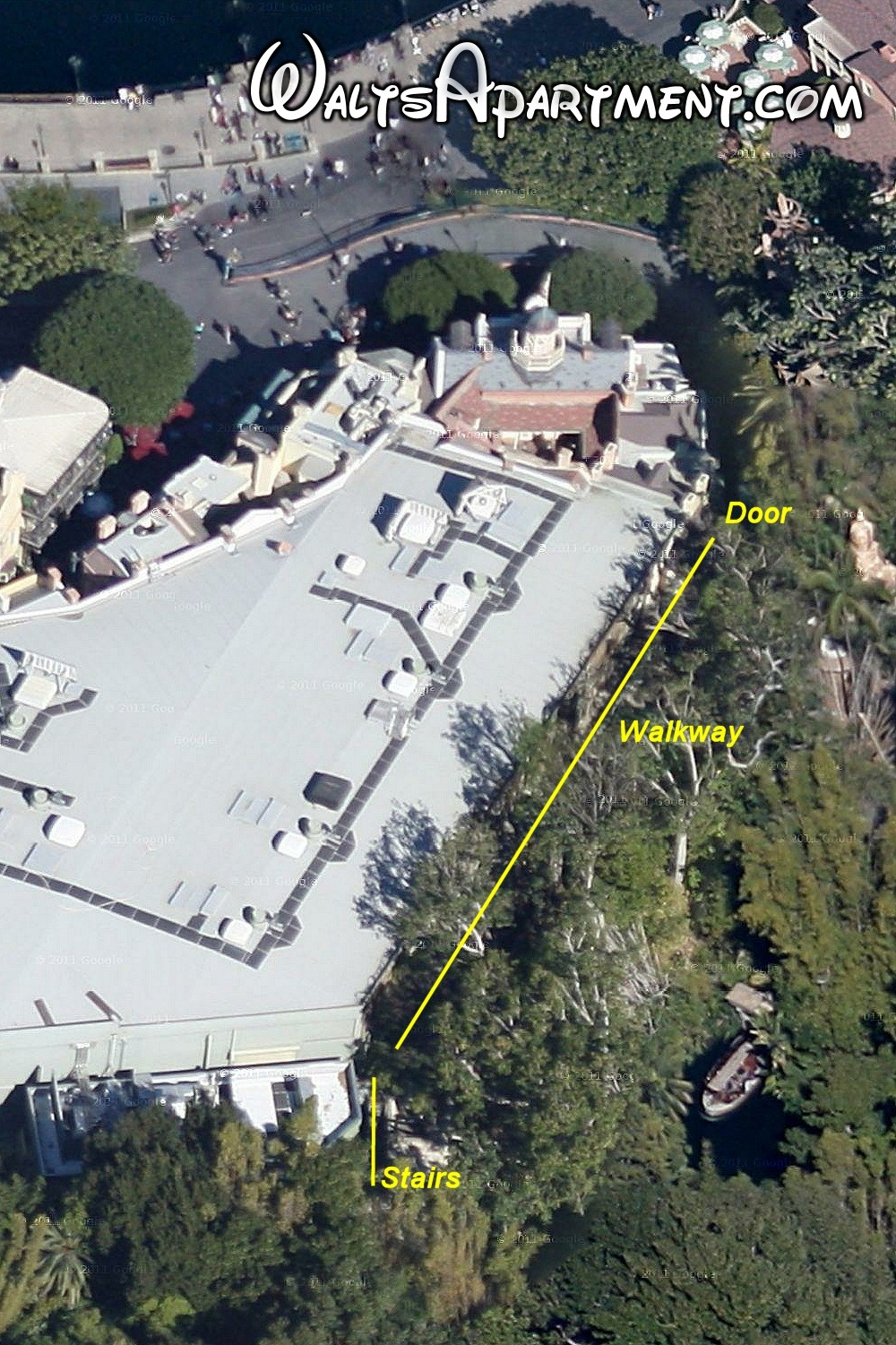 Aerial view of Walt Disney's luxury apartment | WaltsApartment.com