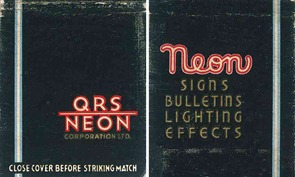 QRS Neon Corporation - Neon Signs, Bulletins, Lighting Effects - WaltsApartment.com