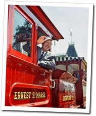 Walt Disney on the Disneyland Railroad - www.WaltsApartment.com