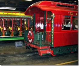 #106 Lilly Belle VIP Parlor car pulling out of the roundhouse on dedication day, February 15, 2006 - www.WaltsApartment.com