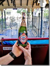 The bottle filled with confetti for the dedication of the #5 Ward Kimball - www.WaltsApartment.com