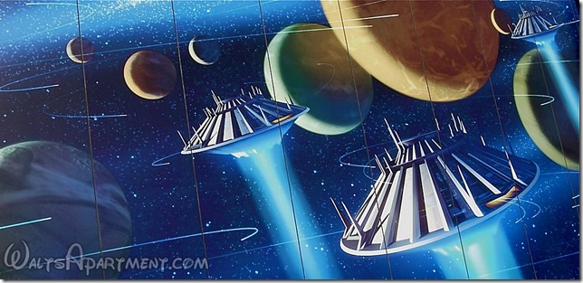 Tomorrowland mural featuring Space Mountain - www.WaltsApartment.com
