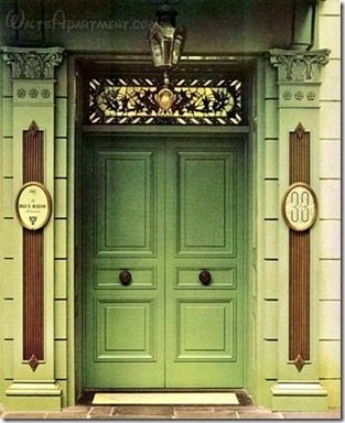 The original double entry-doors to the Club. - WaltsApartment.com