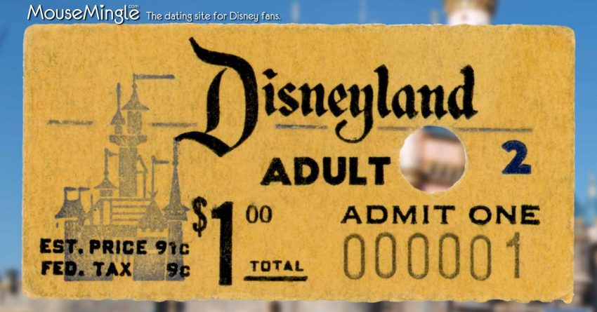 First Disneyland Ticket | WaltsApartment.com