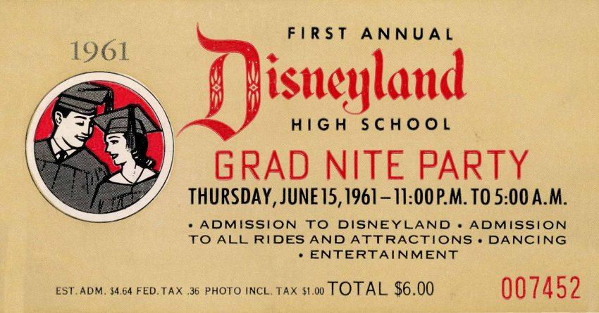 Disneyland Grad Nite 1961 | WaltsApartment.com