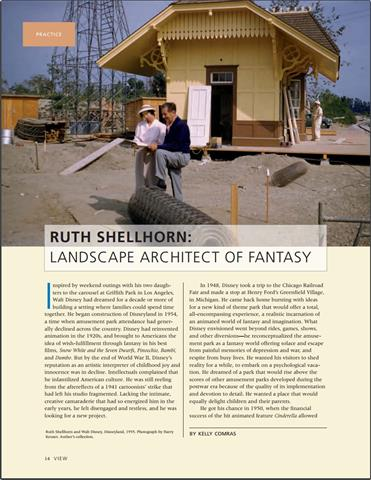 Ruth Shellhorn - Landscape Architect of Fantasy