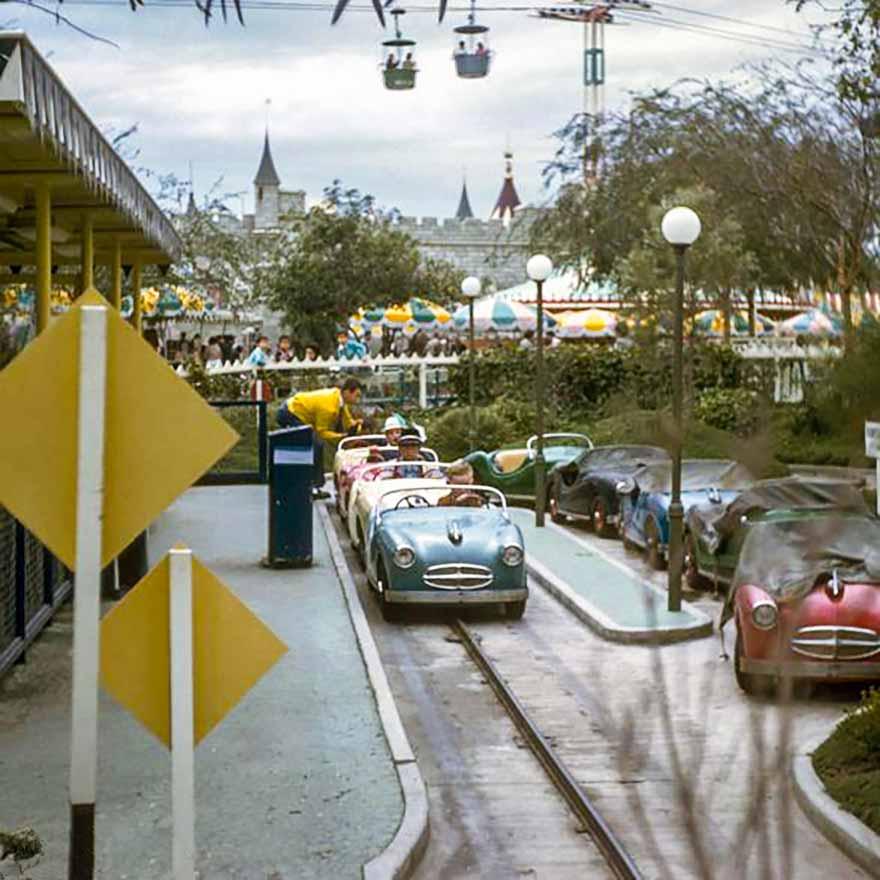 Midget Autopia in Fantasyland - Disneyland | WaltsApartment.com